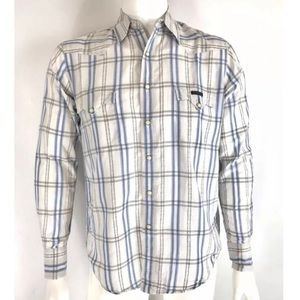 Lucky Brand Western Shirt Snap Button size Small